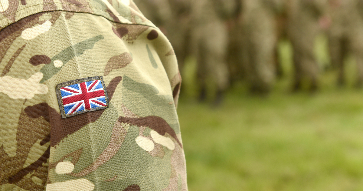 Union Flag on the sleeve of a soldier. Did CBD oil help them?